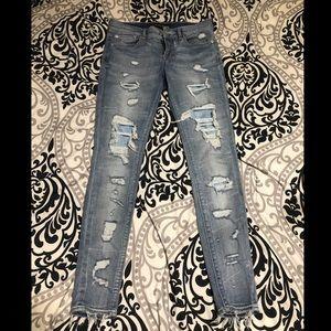 Size 4r Express Skinny Jeans / Jeggings Light Wash